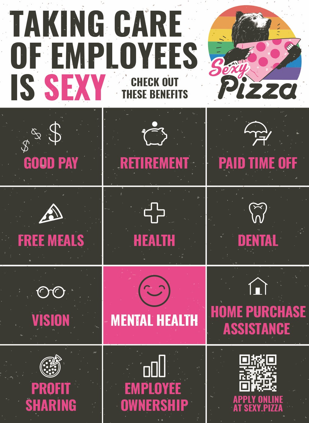 Sexy Pizza - Taking care of employees is sexy